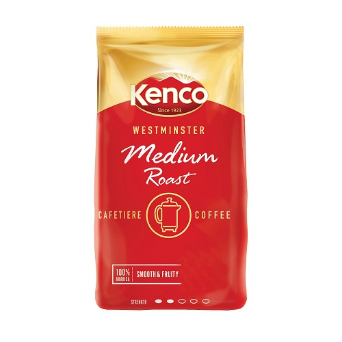 Kenco Westminster Cafetiere Coffee Medium Roast 1kg | Deliciously rich filter coffee | Perfect medium roast blend | Fusion Office