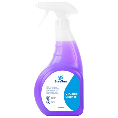 SureSan Virucidal Cleaner Spray 750ml OJH-13657 | Disinfectant cleaner | Certified virucidal & bactericidal standards | Fusion Office