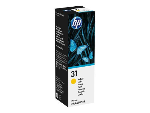 HP 31 Yellow Ink Bottle 1VU28AE   Original Authentic HP - Hewlett Packard   Great Everyday Pricing   Fusion Office