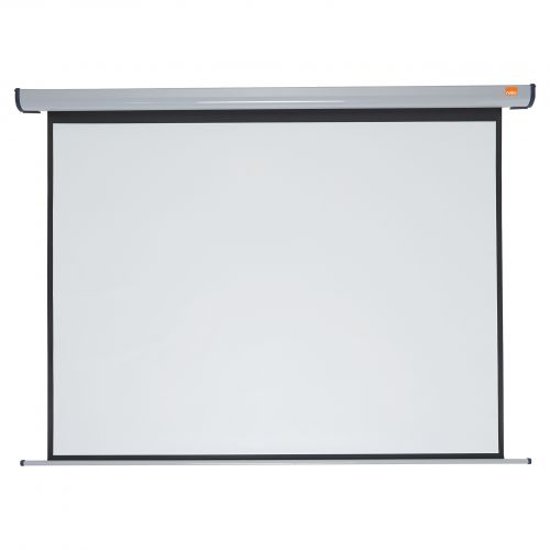 Nobo Electric Projection Screen 1970x1490mm 1901972   Brilliant matt white surface for high quality colour projection   Fusion Office UK