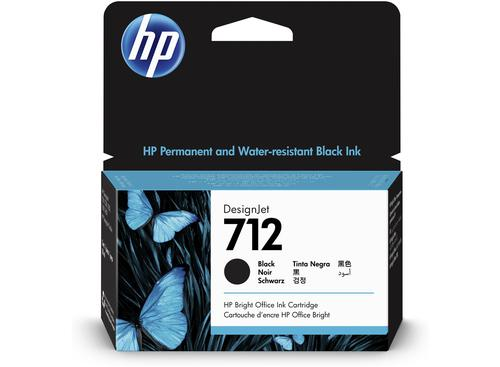 HP 712 Black Ink Cartridge 3ED70A   Original Authentic HP - Hewlett Packard   Great Everyday Pricing   Fusion Office