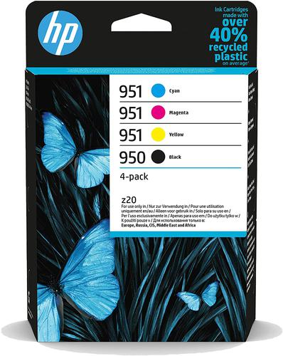HP 950 Black 951 Cyan Magenta Yellow 6ZC65AE [Pack 4] | Original Authentic HP - Hewlett Packard | Great Everyday Pricing | Fusion Office