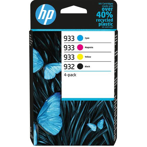 HP 932 Black 933 Cyan Magenta Yellow 6ZC71AE [Pack 4]   Original Authentic HP - Hewlett Packard   Great Everyday Pricing   Fusion Office