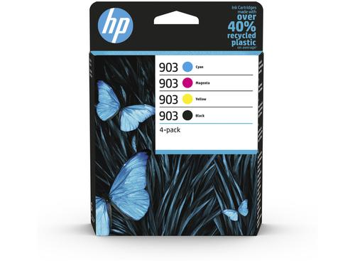HP 903 Black Cyan Magenta Yellow 6ZC73AE [Pack 4] | Original Authentic HP - Hewlett Packard | Great Everyday Pricing | Fusion Office