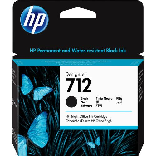 HP 712 Black Ink Cartridge 3ED71A 80ml   Original Authentic HP - Hewlett Packard   Great Everyday Pricing   Fusion Office