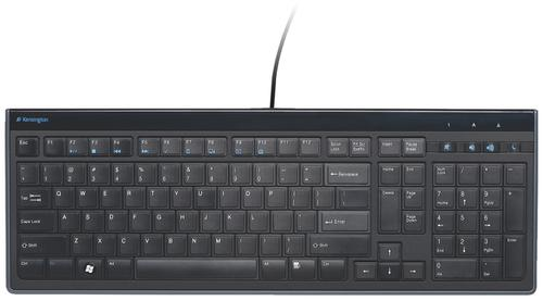 Kensington Advance Fit Full-Size Slim Keyboard K72357UK   Slim keyboard profile just 19mm high   Fusion Office UK