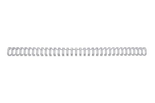 GBC WireBind Wires 6mm Silver 34 Loop RG810497 [Pack 100] | WireBind is the premium choice for a professional finish | Fusion Office UK
