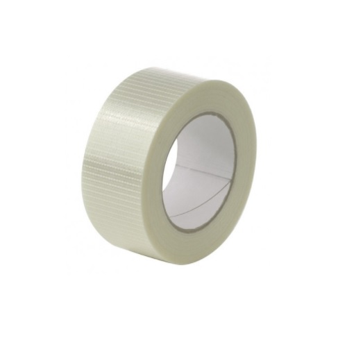 Cross Weave Tape 50mm x 50m [Pack 18] | Hotmelt with fibreglass filament | Reinforced with crossweave fibres | Fusion Office UK