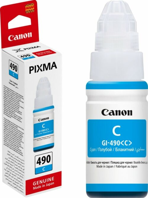 Canon GI-490C Cyan Ink Bottle 0664C001 | Great Everyday Pricing | Fast UK Delivery | Fusion Office UK