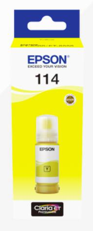 Epson 114 Yellow Ecotank Ink Bottle C13T07B440 | Great Everyday Pricing | Fast UK Delivery | Fusion Office UK