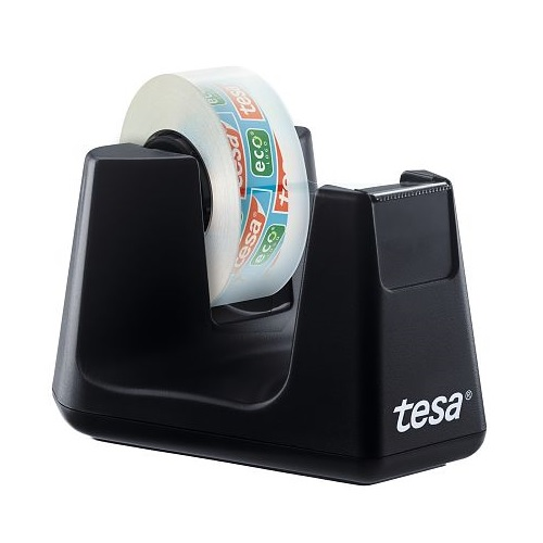 Tesa Easy Cut Desk dispenser SMART 53905 | Made from 100% recycled plastic (housing) | Serrated blade for cutting | Fusion Office UK