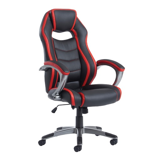 Jensen Managers Chair Racing Seat JEN300T1 | Striking black and red design with racing chair appearance | Lumbar support | Fusion Office UK