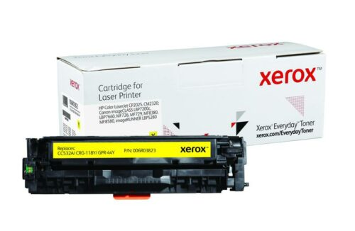 Xerox Toner For HP CC532A / CRG-118Y / GPR-44Y Yellow 006R03823 | Lower cost per page than Original | Lifetime Warranty | Fusion Office UK
