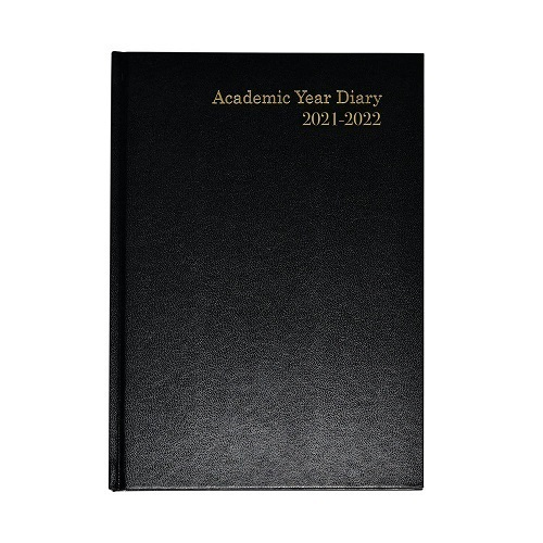 Academic Diary A4 Week to View 2021/2022 Black   Ideal for students, teachers or anybody else that works in education   Fusion Office UK