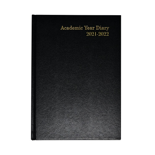 Academic Diary A5 Week to View 2021/2022 Black | Ideal for students, teachers or anybody else that works in education | Fusion Office UK