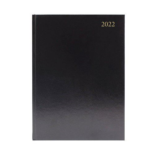 Diary A4 Appointment Day a Page Black 2022 | Ideal for students, teachers or anybody else that works in education | Fusion Office UK