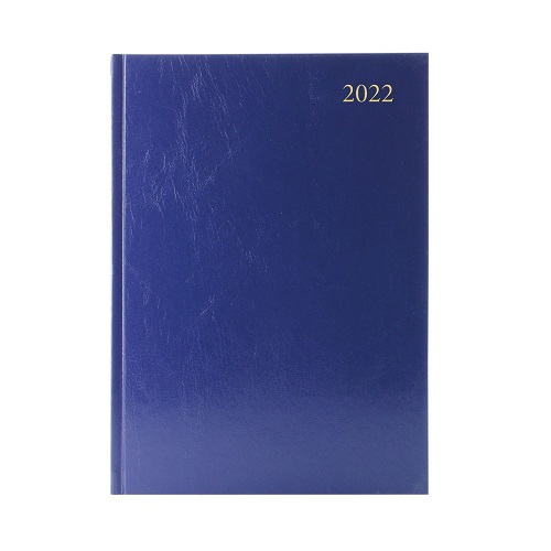 Diary A4 Week To View Blue 2022   Ideal for students, teachers or anybody else that works in education   Fusion Office UK