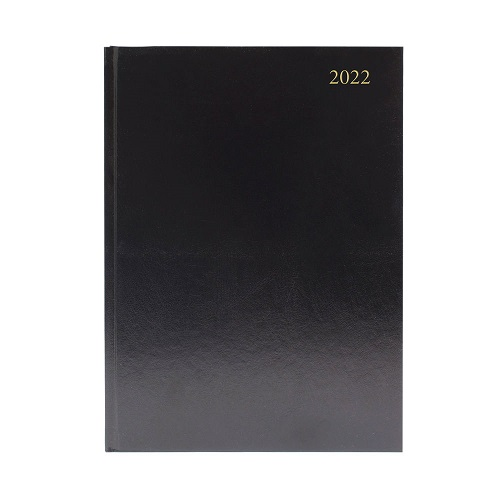 Diary A5 Week To View Black 2022   Ideal for students, teachers or anybody else that works in education   Fusion Office UK