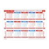 Wall/Desk A4 Calendar 2022 | A practical year to view calendar allows you to see 12 months at a glance for quick reference | Fusion Office UK