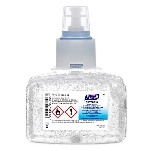 Gojo LTX Advanced Hygienic Hand Rub 700ml 1303-03 [Pack 3]   'Entire Hospital' formulation with antimicrobial efficacy   Fusion Office UK