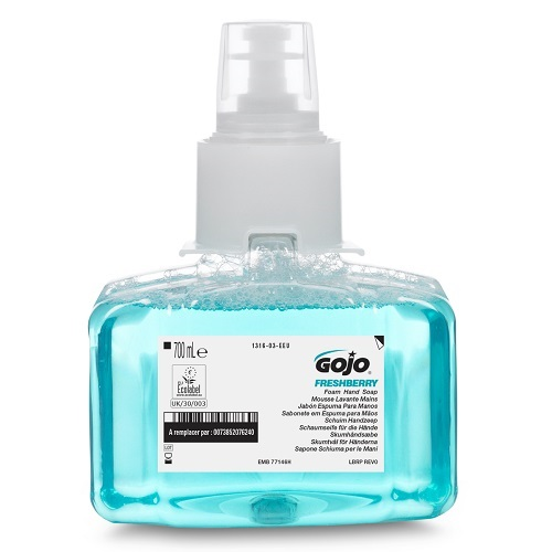 Gojo LTX Freshberry Foam Hand Soap 700ml 1316-03   Enriched with moisturisers and skin conditioners   Fusion Office UK