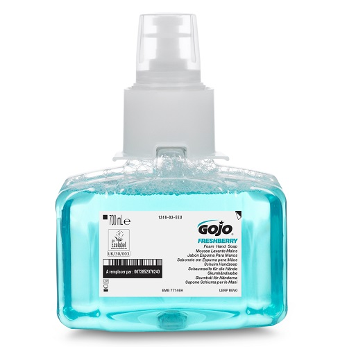 Gojo LTX Freshberry Foam Hand Soap 700ml 1316-03 [Pack 3] | Enriched with moisturisers and skin conditioners | Fusion Office UK