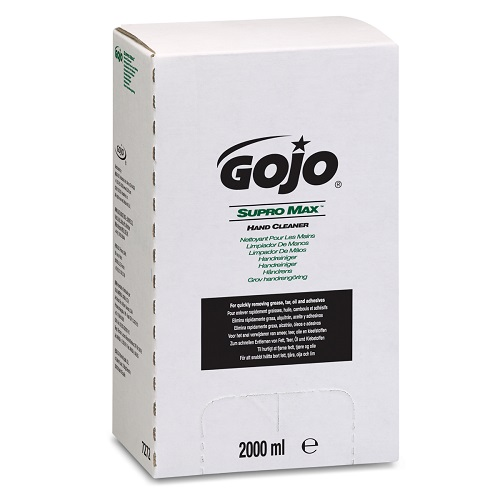 Gojo TDX Supro Max Hand Cleaner Pro 2000ml 7272-04 [Pack 4]   Removes tough sticky soils, such as ink, tar, oil & grease   Fusion Office UK