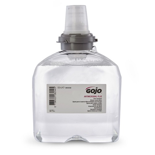 Gojo TFX Antimicrobial Plus Foam Handwash 1200ml 5348-02 [Pack 2] | Gentle on skin and formulated to be highly effective | Fusion Office UK