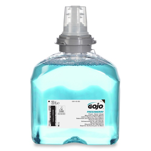 Gojo TFX Freshberry Foam Hand Soap 1200ml 5361-02 [Pack 2] | Enriched with moisturisers and skin conditioners | Fusion Office UK