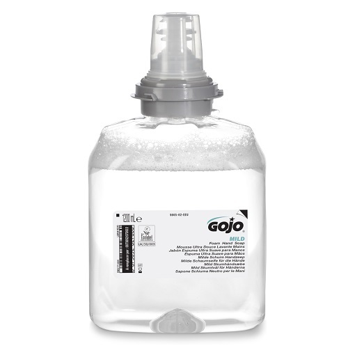 Gojo TFX Mild Foam Hand Soap 1200ml 5665-02 [Pack 2] | A foam hand wash that is extremely gentle to skin| Fusion Office UK