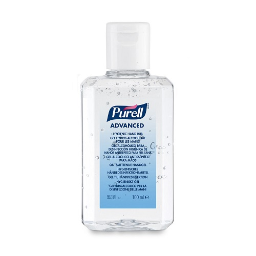 Purell 100ml Flip Cap Advanced Hygienic Hand Rub 9661-24 [24] | A hygienic hand rub that feels great & helps skin health | Fusion Office UK