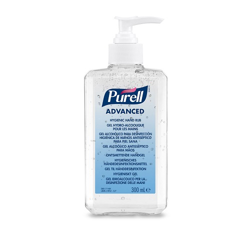 Purell 300ml Pump Advanced Hygienic Hand Rub 9663-12   'Entire Hospital' formulation with antimicrobial efficacy   Fusion Office UK