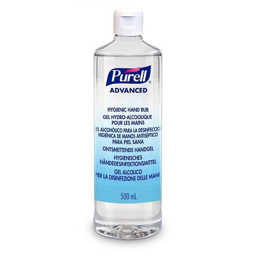 Purell 500ml Flip Cap Advanced Hygienic Hand Rub 9664-12   A hygienic hand rub that feels great to use & helps skin health   Fusion Office UK