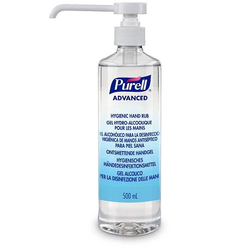 Purell 500ml Pump Advanced Hygienic Hand Rub 9665-12 | A hygienic hand rub that feels great to use & helps skin health | Fusion Office UK