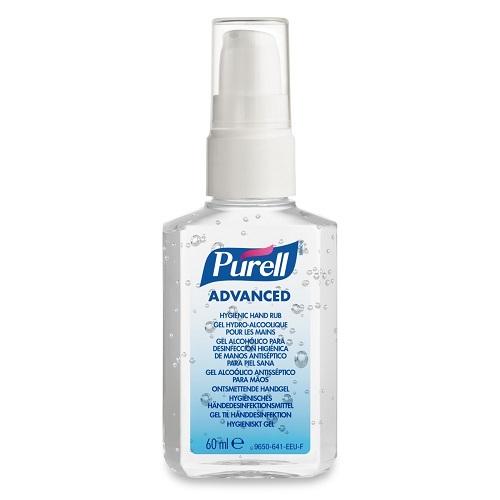 Purell 60ml Pump Advanced Hygienic Hand Rub 9606-24   A hygienic hand rub that feels great & helps skin health   Fusion Office UK