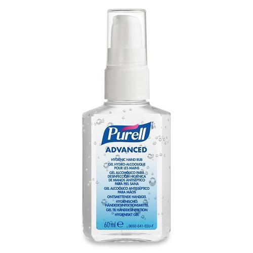 Purell 60ml Pump Advanced Hygienic Hand Rub 9606-24 [Pack 24]   A hygienic hand rub that feels great & helps skin health   Fusion Office UK