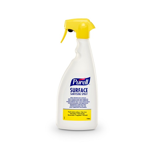 Purell Surface Sanitising Spray 750ml 32675-06 [Pack 6] | Convenient, effective surface spray for food contact surfaces | Fusion Office UK